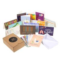 Luxury greeting cards pack assorted greeting cards box birthday cards box set