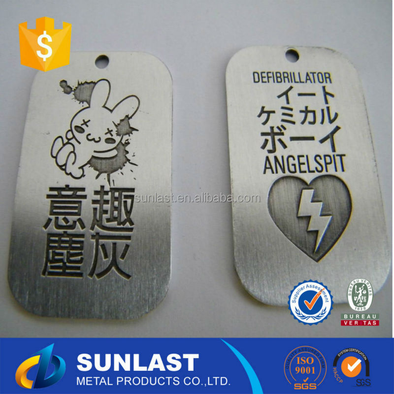 Wholesale metal ID/name/nfc dog tag with your custom logo,size