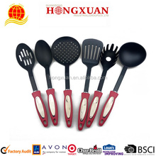 New Design Plastic Handle Nylon Kitchen Utensil 6pcs Cooking Set