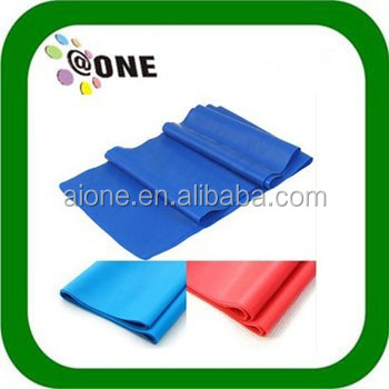 Colourful high quality latex fitness stretch rubber resistance bands