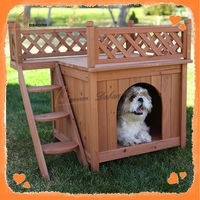 Solid new design cheap wooden house for dog kennel