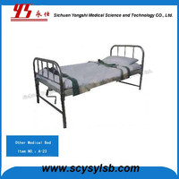 Metal Hospital Medical Bed with Patient Restraints