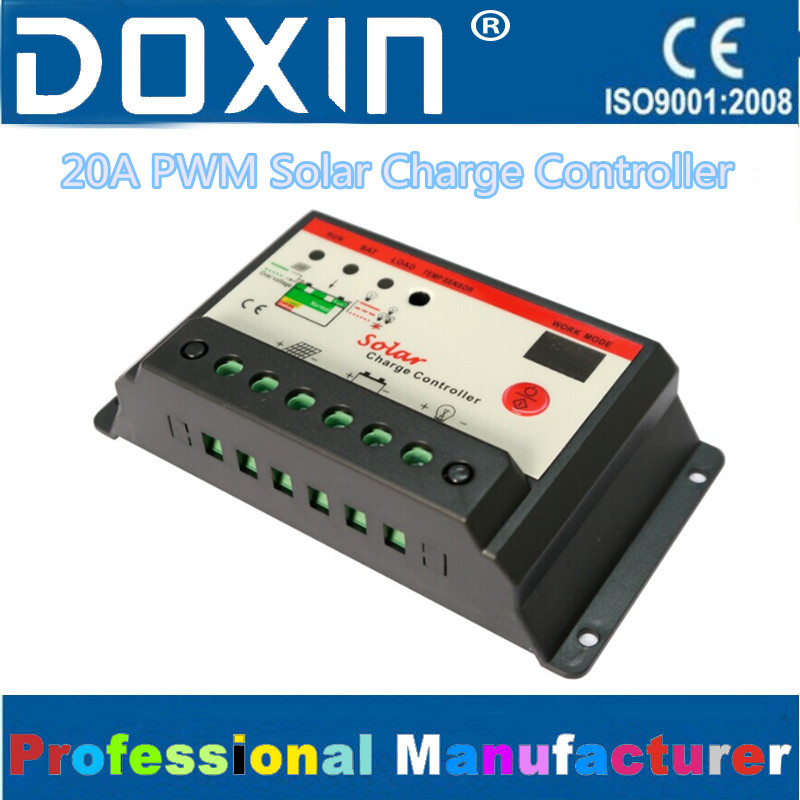 Auto 12V 24V 20A PWM Home Stair Light Solar Systerm Charge Controller