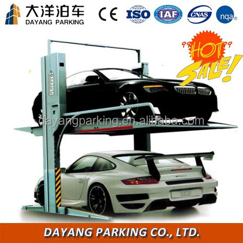 Mechanical vehicle parking lift, 2 post easy parking car lift