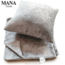 promotional embossed flannel fleece cusion pillow chair throw pillow sofa seat cushion