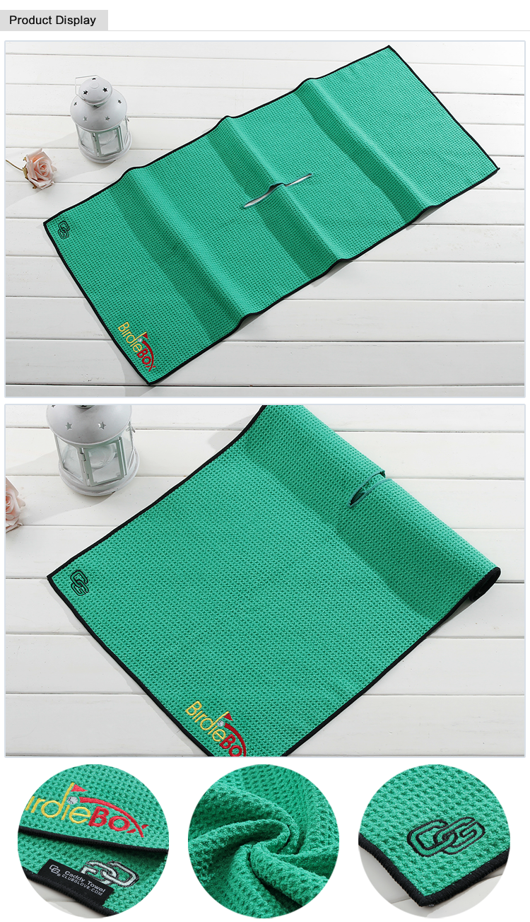 China plush luxury custom disposable waffle weave sport microfiber towels wholesale golf towel with logo