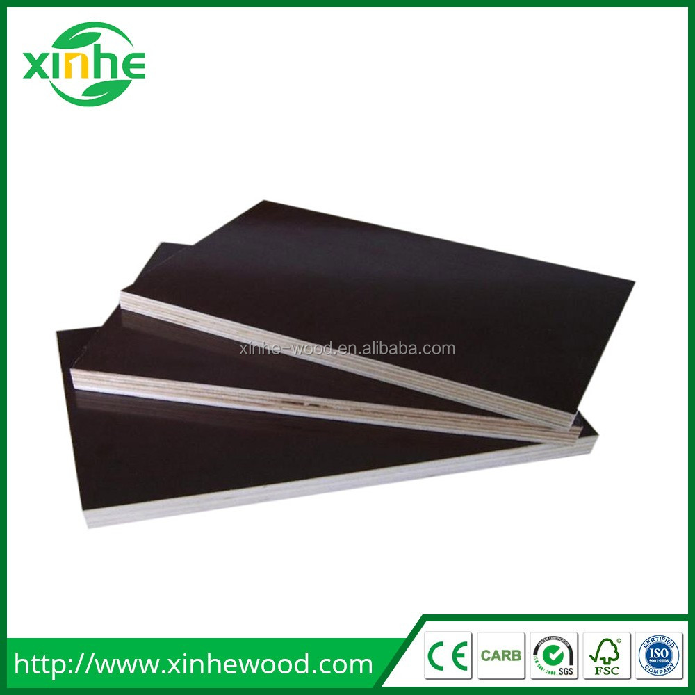 Construction Concrete plywood black or brown film faced 18mm for Forming Work and Cement Pouring