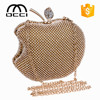 alibaba china fashion apple shape lady rhinestone clutch evening bags YM1389
