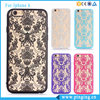 Luxury Retro Engraving Hollow Pattern Women Girl Hard Back Damask Phone Case Cover For Iphone 6 6s