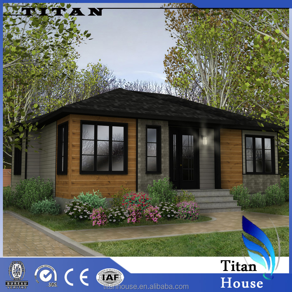 Low Cost Light Steel Prefab Wooden Chalet