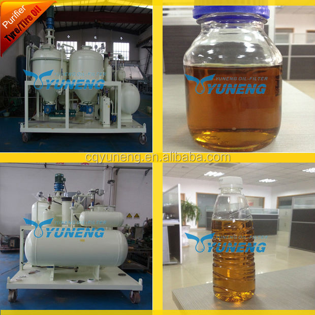 Waste Tire Pyrolysis Oil Filtration Equipment to Remove smell of Oil