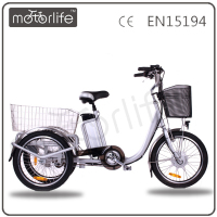 MOTORLIFE/OEM brand EN15194 36v 250w folding electric tricycle