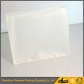 customized color clear transparent matte frosted pvc eva stand up zipper pouch