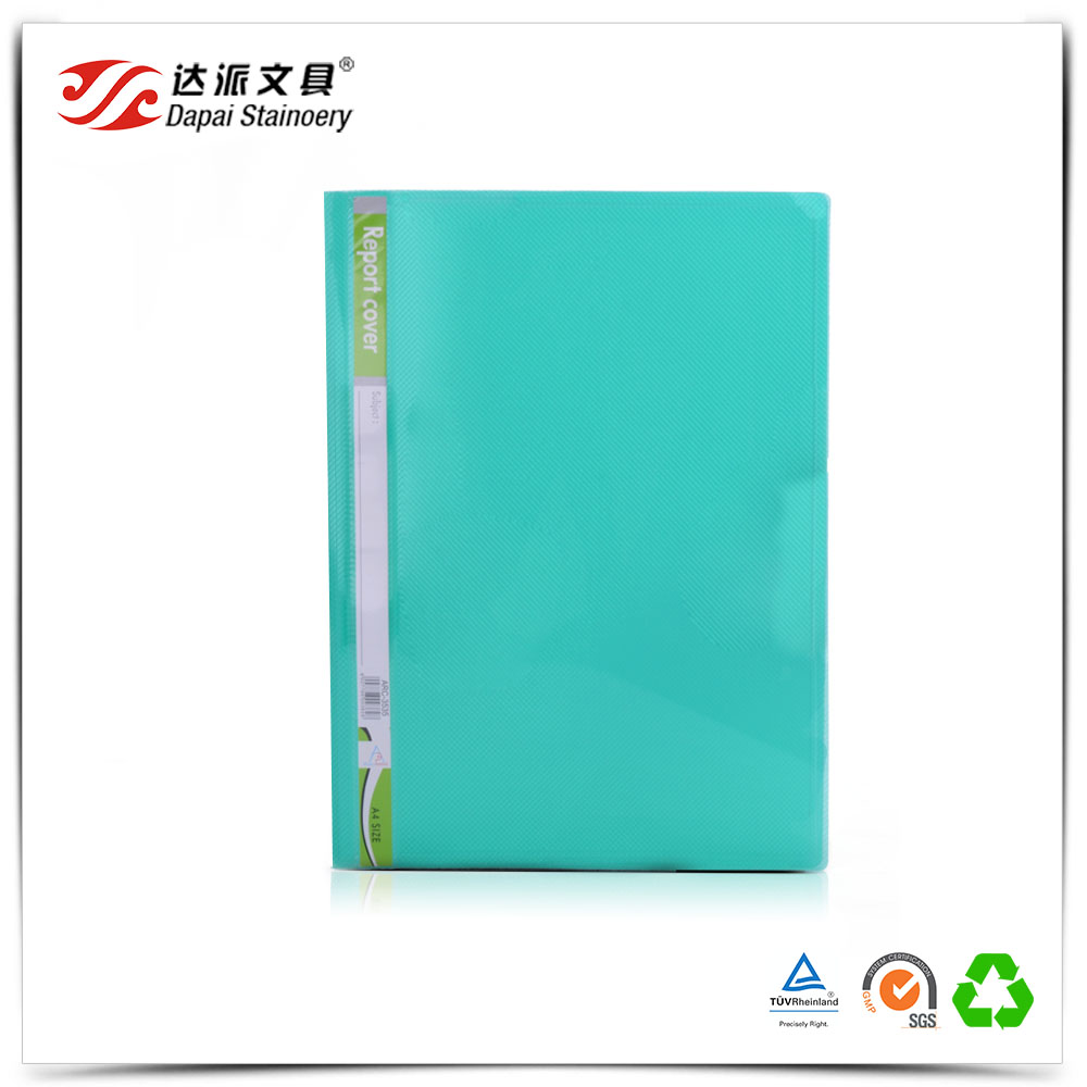 Stationery Manufacturer Flat File Folder with Plastic Clamp