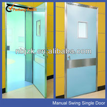 Hospital Using radiation protection lead doors with glass