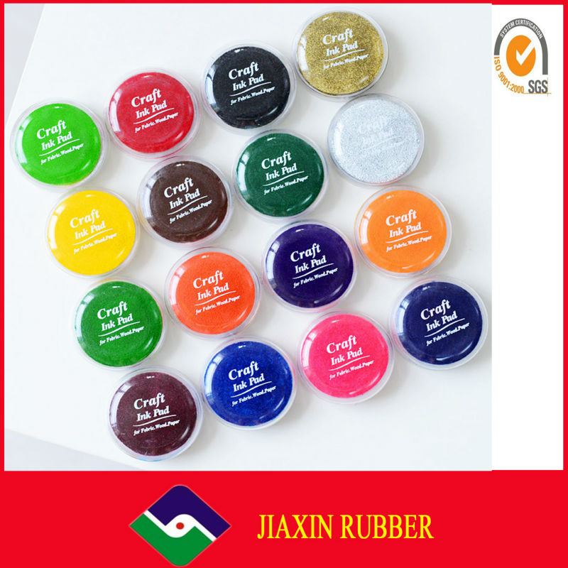 Washable round Ink Pad Dry Ink Stamp Pad
