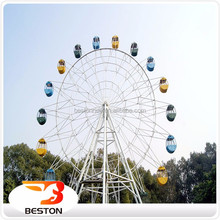 Amusement park giant rides kids games ferris wheel