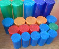 Colorful RX Pharmacy Pop Top Vials Medcial Cannabis Vials hinged lid container