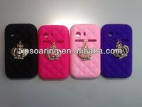 Cute Crown silicone cover case for Samsung Galaxy Y S5360