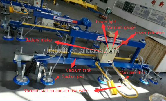 Hot sale capacity 2000kg vacuum lifter