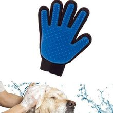 SPRILL Pet Dog Cat Grooming FIVE FINGER DESHEDDING GLOVE TRUE TOUCH