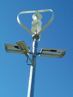 10kw off grid hybrid solar wind led light lighting power system with Surveillance camera