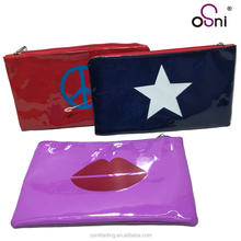 Promotion Customize Logo Manufacture Plastic PVC Lip Star Printing Pencil Case