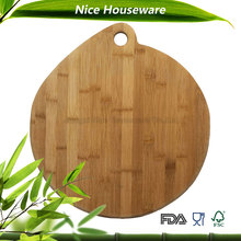 animal classic water drop shape bamboo cutting board