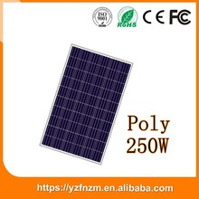 chinese manufacturer 250w polycrystalline silicone solar panel wholesale price