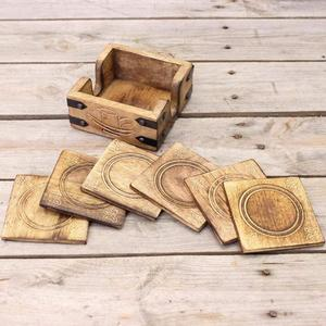 "4""x4"" Unfinished Wooden Coasters"