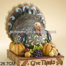 Wholesale resin thanksgiving give thanks turkey figurine
