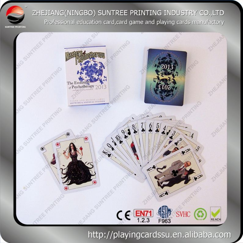 Real factory in China of China Top Quality Advertising Magic Playing Cards