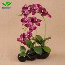 Wholesale artificial flower Real Touch indoor decoration 58cm real touch purple blue orchids