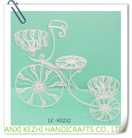 LC-85252 Wedding Metal White Bicycle Decorative Flower Pot Stand