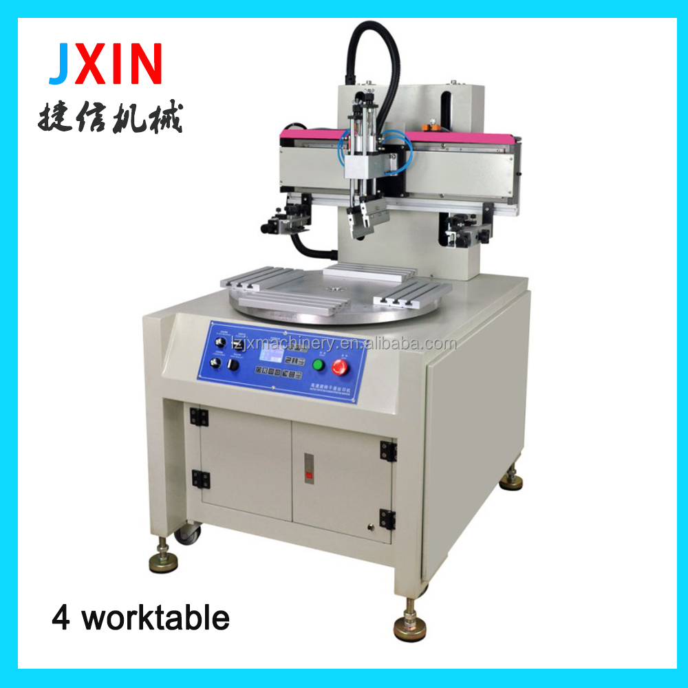2016 High precision used cylinder flat bed screen printing machine with spot UV