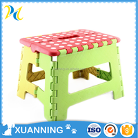 bright color 9 inches folding step stool adjustable step stool amazing printing folding stool