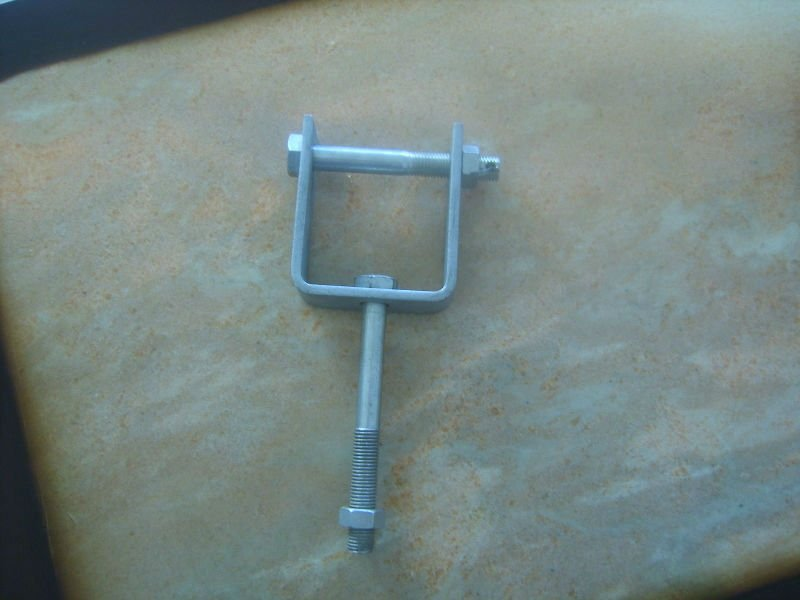 HDG high voltage electrical D iron/ D bracket / insulator bracket