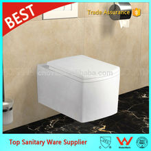 foshan sanitary ware color wall hung toilet