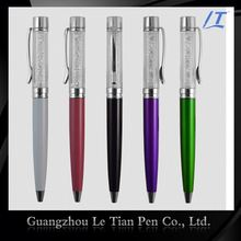 Comfortable Design Custom Logo Gemstone Pen
