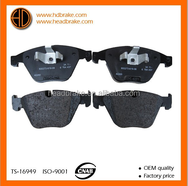 brake pads for BMW X1 OE 34116780711