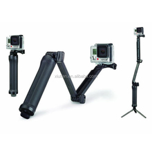 Multi Function for GoPros 3-way Grip Arm Tripod For Go pro Hero4 Session Camera Accessories Kits