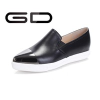 high quality pointed toe flats women!black and white women dress shoe!