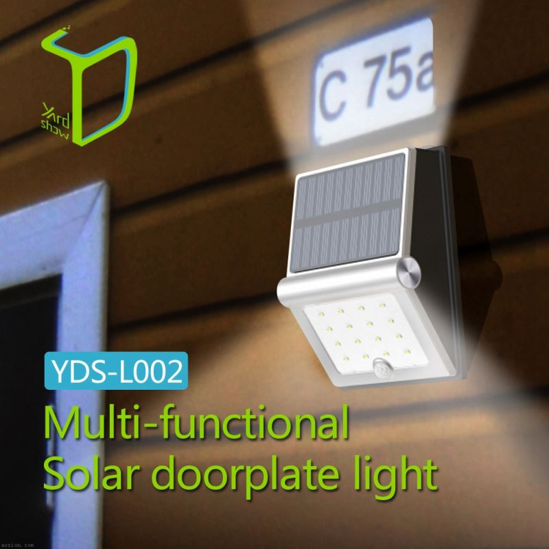 Yardshow Exclusive Solar Power Waterproof PIR Motion sensor exterior wall mounted light fixtures