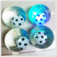 hot selling LED flashing glitter bouncing ball with mini soccer ball