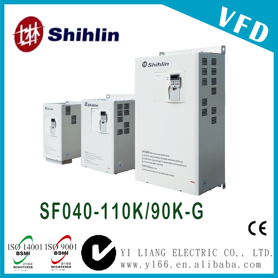 SF040-110K/90K-G 150HP Taiwan three phase dual-load high performance vector control inverter vfd inverter