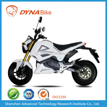 DYNABike Hot Selling 72V 20AH Lead Acid Battery Operated Electric Racing Motorcycle