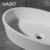 Artificial stone blue and white vessel sink for sale