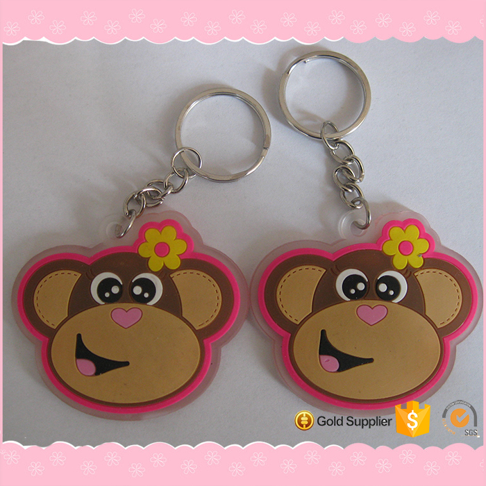 Excellent Quality Animal Images Rubber Key Chain