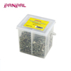 Wholesale assorted sizes 800pcs steel countersunk head yellow zinc plated chipboard screws