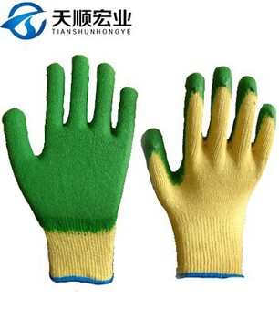 Industrial Cotton liner Rubber Gloves